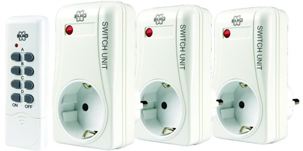 Outletsockets with remote controll