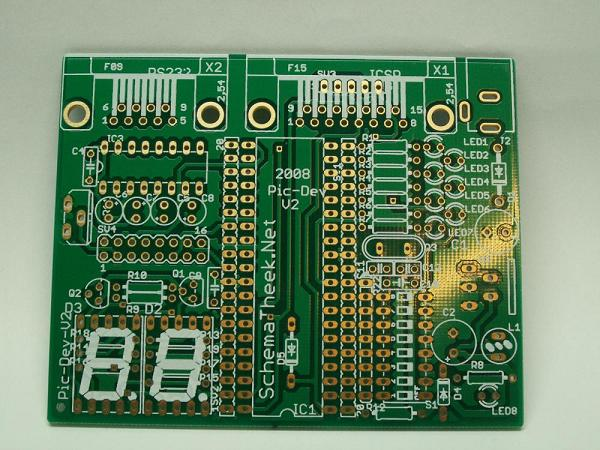 PIC16F877A development board PCB