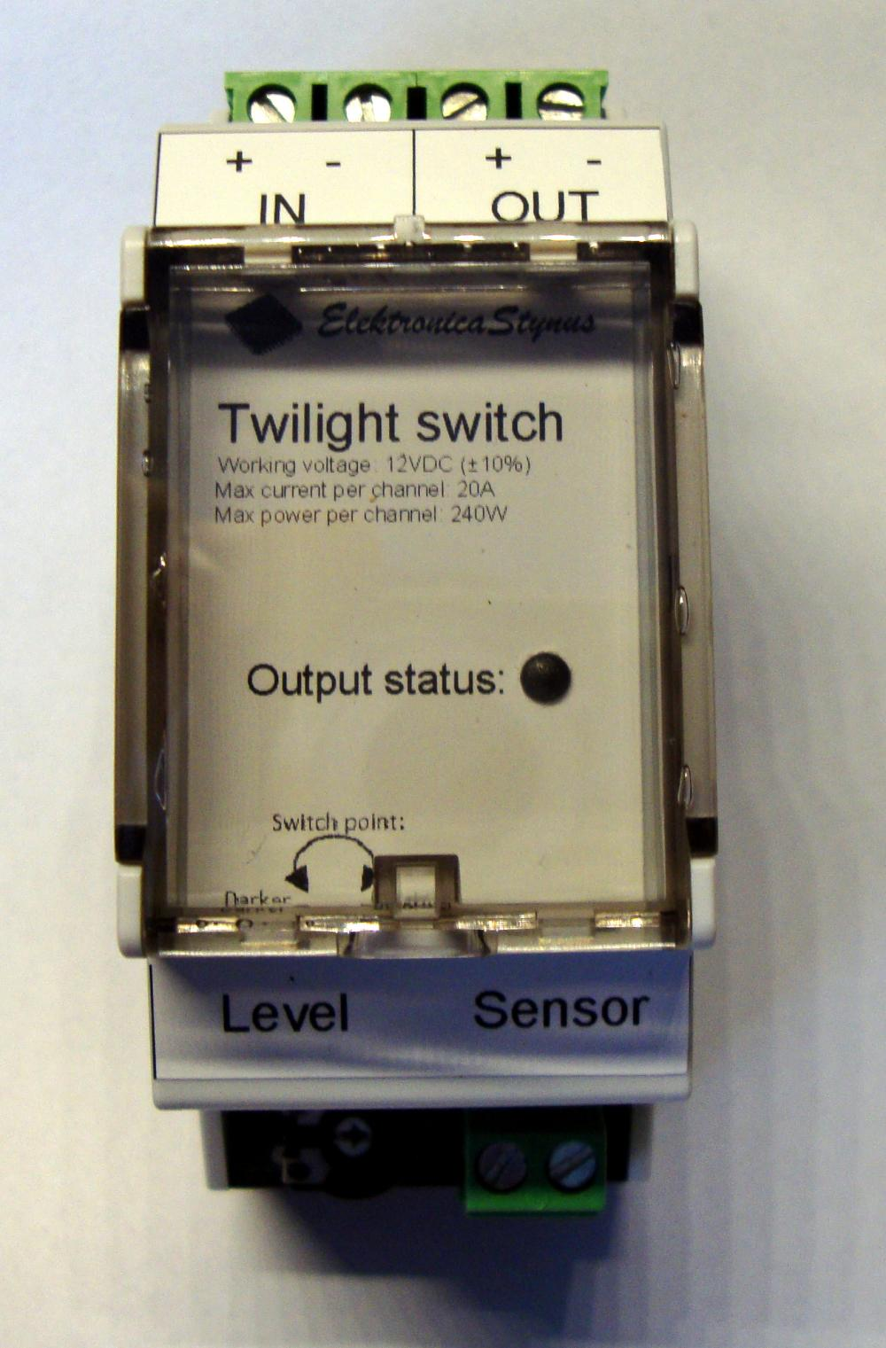Twilight switch (DIN rail version)